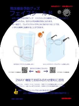 新型コロナウィルス感染症に於ける飛沫感染防止用フェイスシールドの作成について